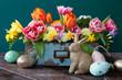 canvas print picture - Froehliche Dekoration zu Ostern