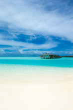 Tropical Maldives Island With ...