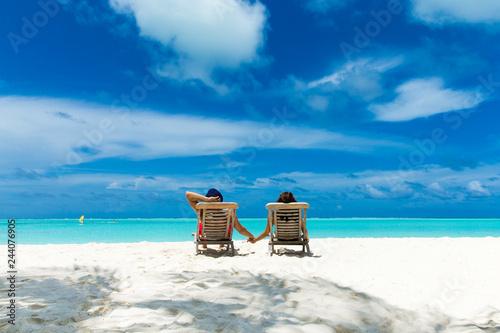 beach and beautiful tropical sea - 244076905