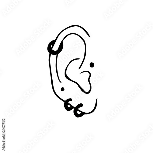 Fotografia Ear piercing