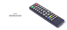 Remote Television Control Pattern On A White Background Isolatio