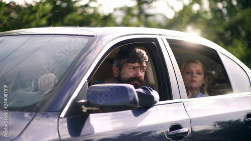 Photo  Beautiful Young Couple On Car, Happiness, Freedom, Leisure.