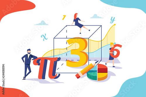 Mathematics vector illustration Wallpaper Mural