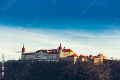 Photo Wachau Abbey of Goettweig with surrounding vineyard, Lower Austria