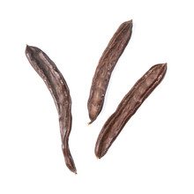 The Carob Pods Isolated On White