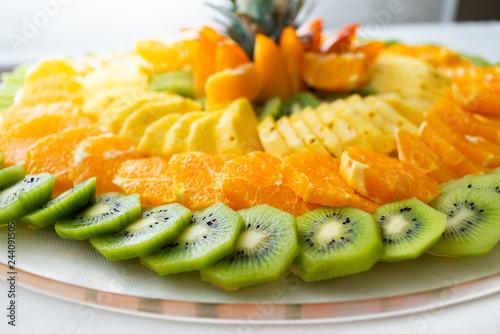 Frutta fresca a mosaico