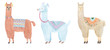 Watercolor lamas