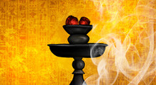 Hookah With Coals, Black On A ...