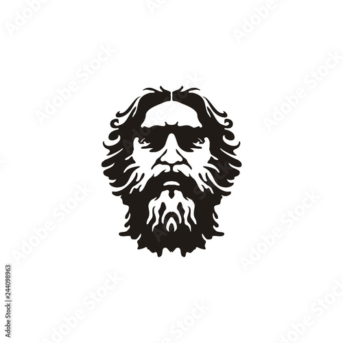 Greek Old Man Face Wallpaper Mural