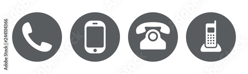 Phone icon collection. Call sign. Vector Fototapeta