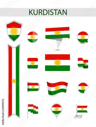 Fotografía  Kurdistan Flat Flag Collection