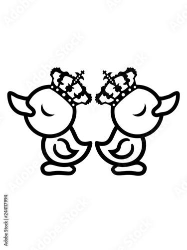 Fotografia, Obraz  streiten beleidigt trotz 2 feinde freunde eitel könig königin prinzessin chick k