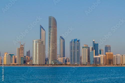 Skyline of Abu Dhabi, United Arab Emirates