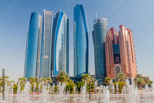 Foto auf AluDibond Abu Dhabi View of skyscrapers in Abu Dhabi, UAE