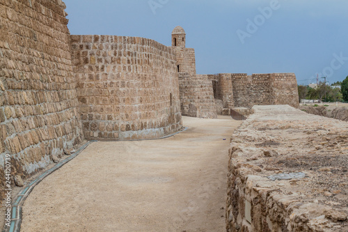 Fortification walls of Bahrain Fort (Qal'at al-Bahrain) in