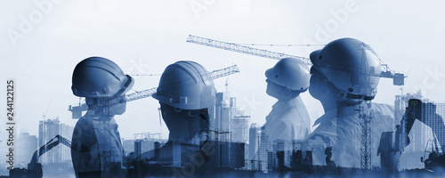 Fotografie, Obraz  industry of construction site and engineer working