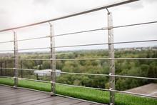Frameless Stainless Steel Railing On Terrace