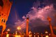 Venezia, Italia, Plaza San Marcos de noche.
