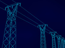 Electrical Towers With Wires