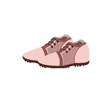 Golf Shoes Isolated Icon