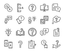 Set Of Question Icons, Such As...