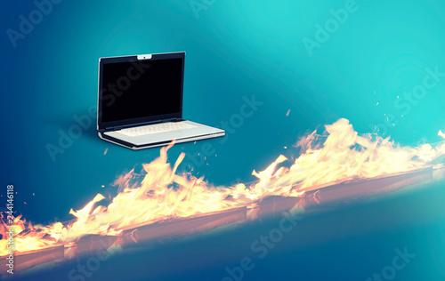 Fotografía  Laptop firewall