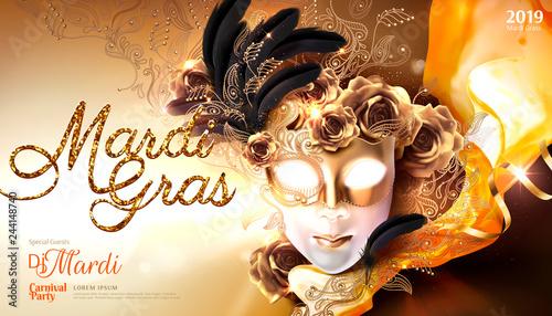 Plakat karnawałowy Mardi Gras