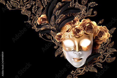 Tablou Canvas Carnival mask design