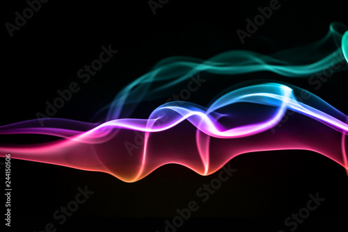 Poster Fumee Colorful Abstract Background