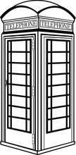 British Telephone Booth Vector Illustration