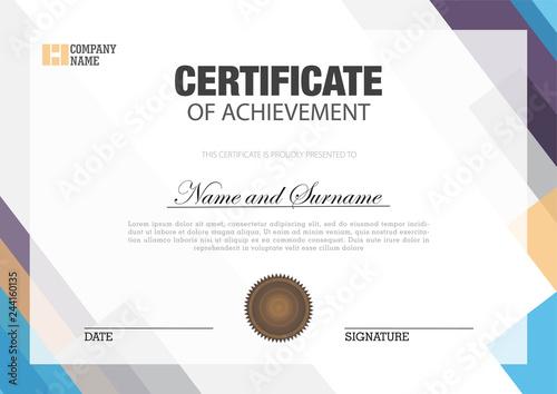 Fotomural  Certificate template