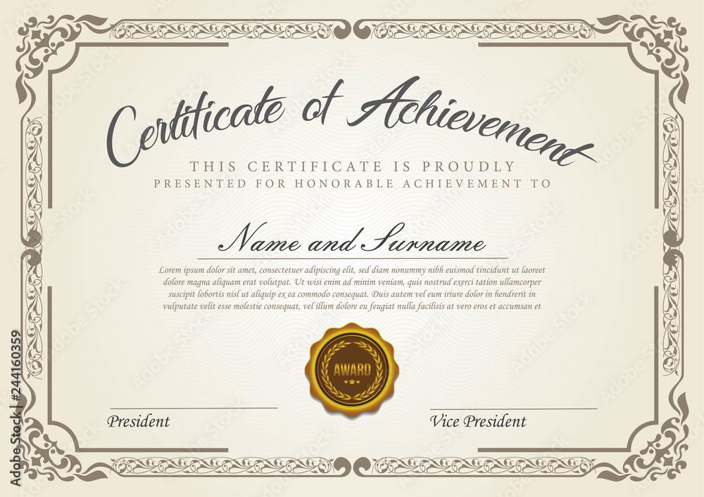 Fototapety, obrazy: Vintage certificate template