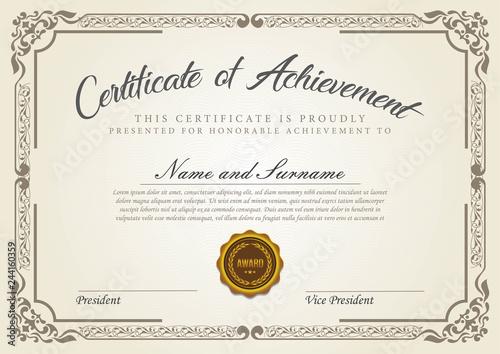 Obraz Vintage certificate template - fototapety do salonu