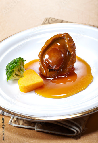 Canvas Print Delicious Chinese cuisine, abalone