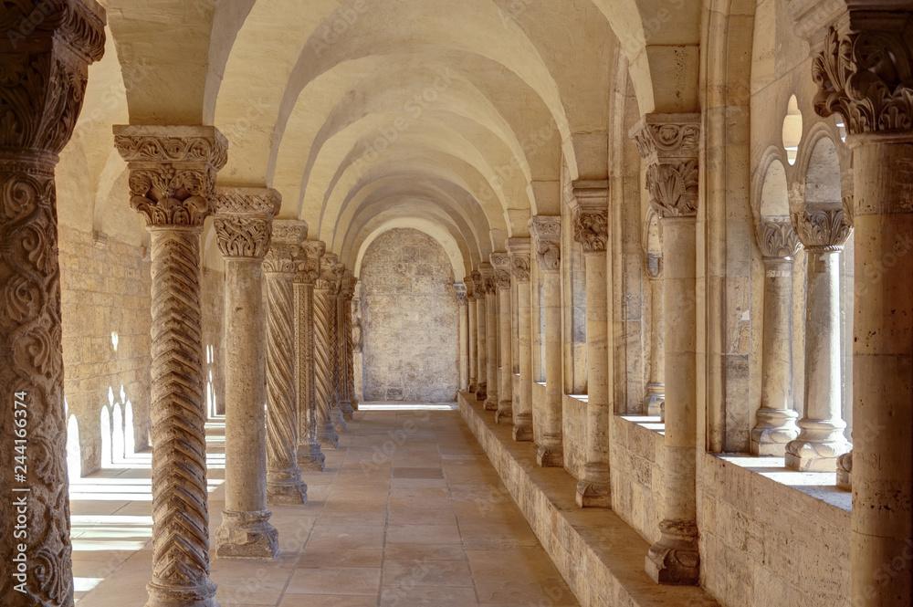 Fototapety, obrazy: Cloister in the Kaiserdom of Königslutter am Elm in bright sunshine