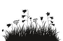Vector Illustration Grass Back...