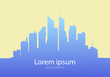 Modern city skyline. Vector illustration