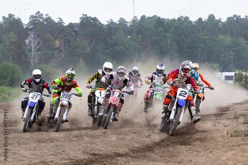 Foto op Aluminium group of people riding bikes