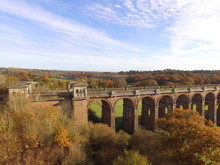 Ouse Valley Train Viaduct Over The River Ouse In Sussex, England.