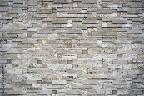 Photo sur Toile Brick wall brick wall of white color background texture