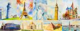 Fototapeta Big Ben - Travel around the world and sights. Famous landmarks