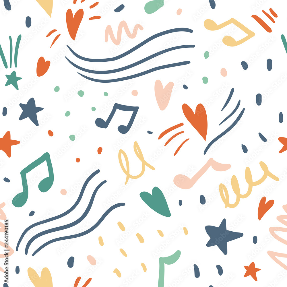 Music seamless vector pattern
