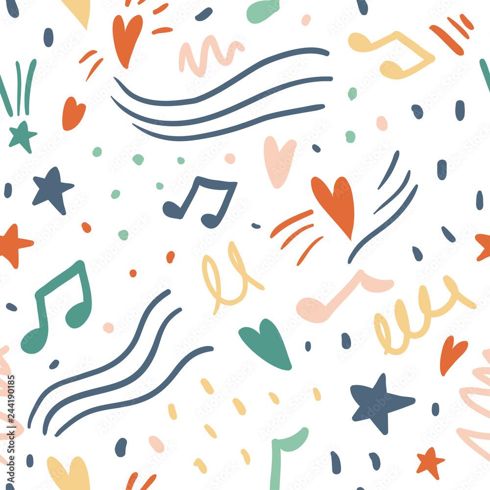 Music seamless vector pattern