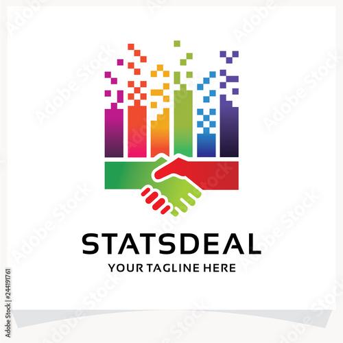 Photo  Stats Deal Logo Design Template Inspiration