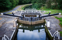 Lock Gates On Canal