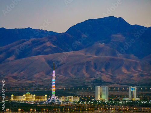 Impressions from Ashgabat, capital of Turkmenistan, from the Gate of Hell and Ma Canvas Print