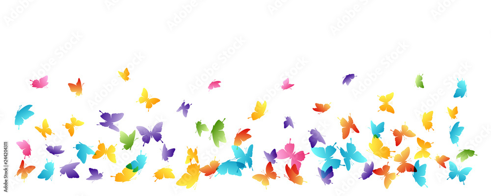 Fototapeta Flying butterflies. Vector decoration element.