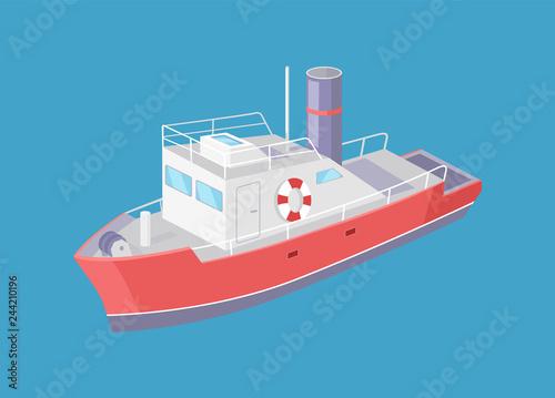 Valokuva Steamboat Marine Transport Vessel Sailing in Sea