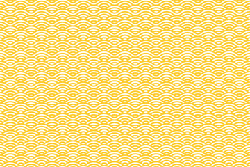 Vector Seamless Pattern with White and Yellow Stripes. Sea Waves Texture. Noodle and Pasta Abstract Background Concept
