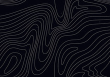Black Background With White Stripes. Seamless Pattern With Optical Illusion